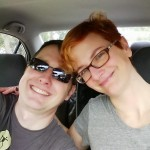 This photo accurately sums up our cheerful exhaustion as we get ready to drive away.