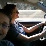 Driving through northern California.