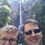 Jenn and I at Multnomah Falls; stunning!
